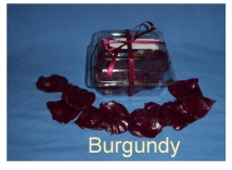Burgundy Soap Petals