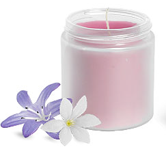 Frosted Jar Candles  8 oz