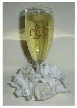 Wedding Champagne with Ivory Flower