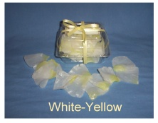 White with Yellow Tip Soap Petals